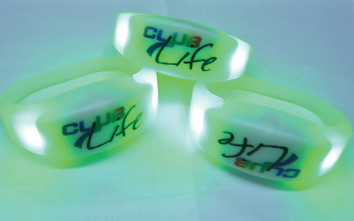 LED Flashing Silicone wristband