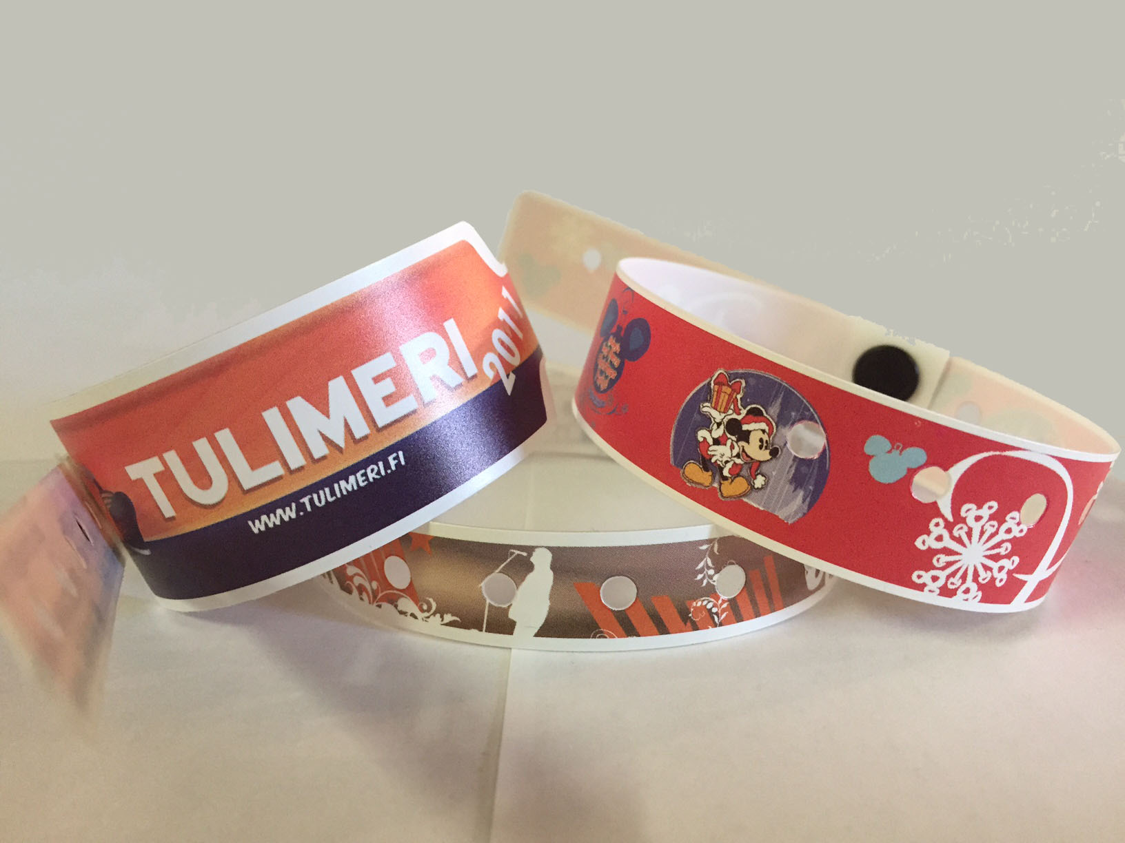 Full color vinyl wristbands
