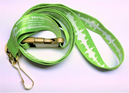 Thick Polyester Lanyard :: Festival Wristbands - Nordic