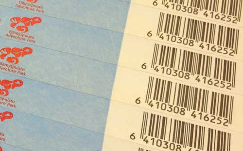 Barcoded Tyvek bands