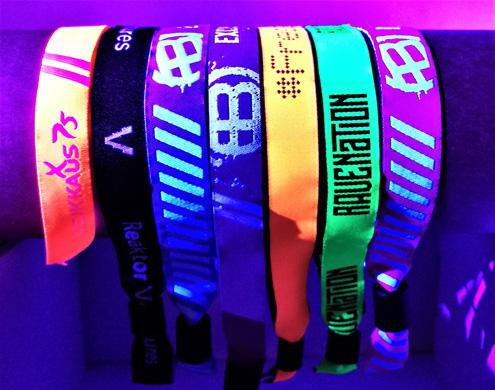 UV reflective Fabric Wristbands