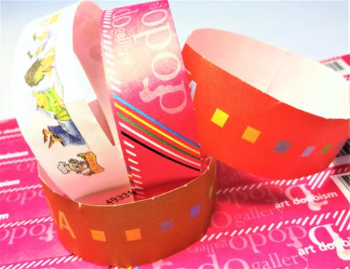 Full color Tyvek wristband