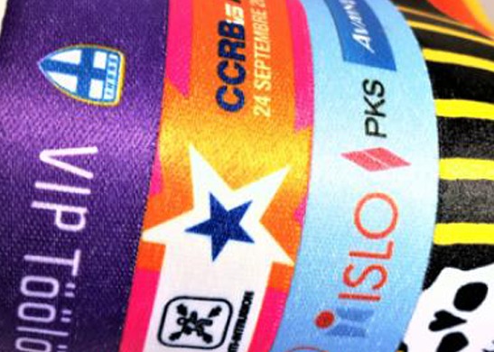 Dye Sublimation printed Charity Wristbands